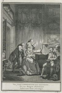 Engraving from Laborde's Choix des chansons